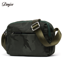 DANJUE Man Messenger Bag Waterproof Oxford Military Style Shoulder Bag Camouflage Mini Daily Bag Male Zipper Business Trendy Bag(China)