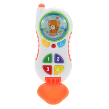 Toy Phone Popular Baby Toys Music Phone Mobile Phone with Cartoon Pattern Nice Language Development Toy(China)