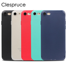 Clespruce Ultra thin Original Simple Series Soft TPU Back Phone Case Cover For Apple iPhone X 8 7 PLUS 6 6s plus With Dust plug