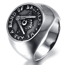 Free Shipping 316L Stainless Steel Masonic Ring for Men, Master Masonic Signet Ring, Free Mason Ring Jewelry