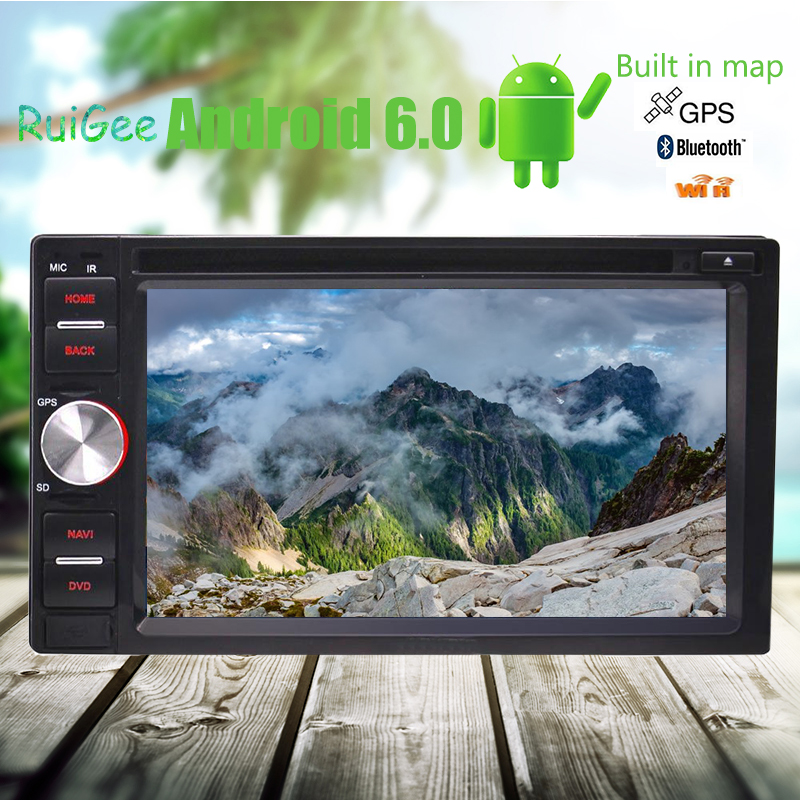 2 din Car DVD Player Android 6.0 Car Stereo GPS WIFI/Bluetooth/External Mic/fm/am Radio Receiver/Mirrorlink/OBD2()