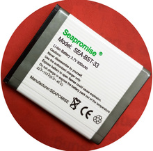 Freeshipping retail Mobile phone battery BST-33 for Sony Ericsson K530i, K550i, K630i, K660i, K800i, K810i, M600i, P990i,W890