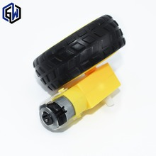1 set Deceleration DC motor + supporting wheels , a / smart car chassis , motor / robot car wheels Gear Motor with Wheel