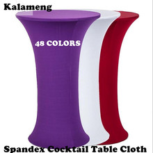 "SPANDEX LYCRA STRETCH COVER TABLECLOTH ROUND SIZE 110CM 43"" HEIGHT POSEUR BISTRO COCKTAIL TABLE COVER CR-976"