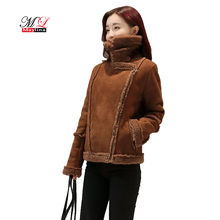 Buy Maylina Winter Women Leather Jacket 2018 Fashion Slim Wool Zipper Short Faux Pu Coat Thick Jackets Warm Female Outwear Coat for $41.21 in AliExpress store