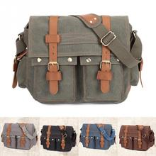 2017 New Outdoor Canvas Shoulderbag Male Men Messenger Bags Shoulder Crossbody Bag Traveling Hiking Bags(China)