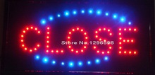 "Led Close Business Shop Sign 19x10"" Bright Store neon Bar Close Animated Light Open Mart(China)"