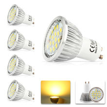4x 100% Quality Assurance GU10 11W SMD 2835 16LED Light Bulb Warm White Cold White AC 220V LED Spot Aluminum lamp cup(China)