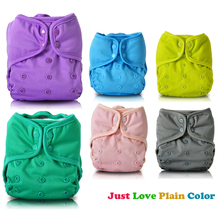 JinoBaby Cloth Diaper Great Color Stay-dry Reusable Diapers(with 2PCS natural bamboo cloth nappies)(China)