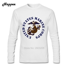 Geek Long Sleeve T Shirt United States Marine Corps Clothing Autumn Man Cheap Sale United States Marine Corps T Shirt Tops