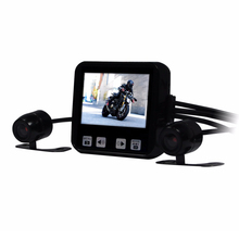 "New Arrival C6 Motorcycle DVR 2.0"" Touch Key Full HD 720P Waterproof Dual Cameras Car Dash Cam Support GPS and G-sensor(China)"