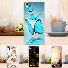 0.3mm Soft TPU Skin Gel Shell Cover for HTC desire 626 626w 626d Flower Tower Fashion Case For HTC Desire 626 626G 626G+