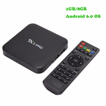 New arrival TX3 Pro Amlogic S905X Android 6.0 TV Box 1.5GHz 1G/8G KODI Smart TV Portugal Russian Hebrew Europe Media Player Box(China)