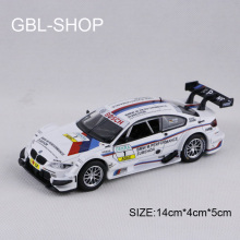 1:32 Metal Alloy Diecast Toy Car M3 DTM Model Miniature Scale Model Sound & Light Emulation Electric Pull Back Car Gift For Boys