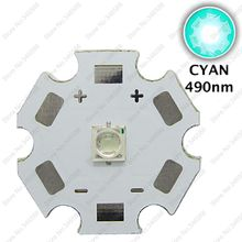 5pcs 3W 490nm - 495nm Cyan Color 3535 Epileds High Power LED Light Emitter Diode on 16mm / 20mm Aluminum PCB(China)