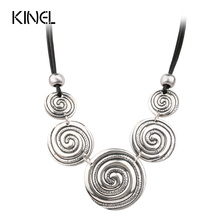 Hot Sale Lovers Creative Pendant Necklace Color Silver Boutique Gift For Women Vintage Necklace Fashion Jewelry 2016 New(China)