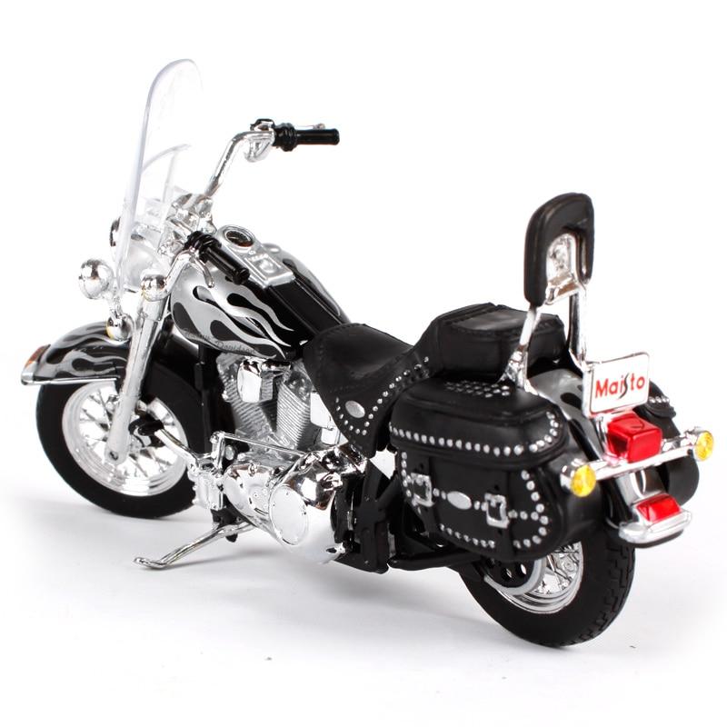 New MAISTO MI13076 Harley Davidson 2002 FLSTC Heritage SOFTAIL Classic 1:18 Die CAST