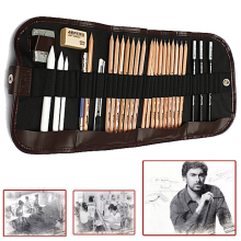 29pcs/set Sketch Pencils Charcoal Pencil Eraser Cutter Kit Bag Art Craft For Drawing Tools(China)