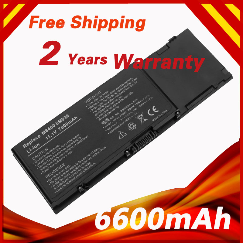 6600mAh 10.8v Laptop Battery for DELL Precision M6400 M6500 DW842 C565C 8M039 KR854 312-0873<br>