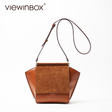 Viewinbox Brand Funny Trapeze Lady Bag Woman Handbag Women Messenger Bags Cattle Leather Bags Women Swing Shoulder Crossbody bag