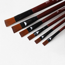 6pcs/set Acrylic Oil Painting Brush Watercolor Pen Suit Wooden Handle Brushes Drawing Tool Paint Pens Art Supplies(China)