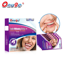 Onuge 28 White Whitening Strips Professional Advanced Non-slip Technology Teeth Whitening Kits 1 Hour Express Bleaching