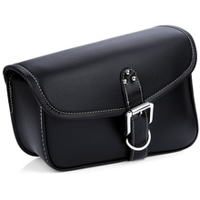 Motorcycle Saddle Bag PU Leather Motor Saddlebag Tool Pouch Side Bags Harley Cruiser Storage High Capacity Durable Left/Right