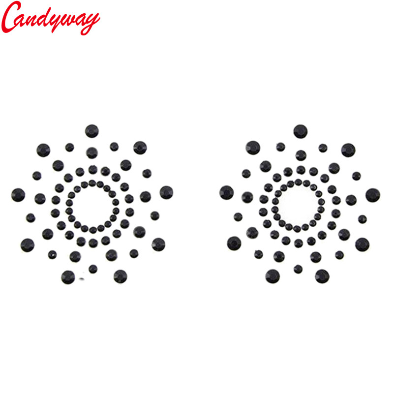 Beauty Flower Shape Paste Breast Bra Sequin Adhesive erotic lingerie Stickers Nipple Cover Milk Paste for Sexy Women Ladies 6