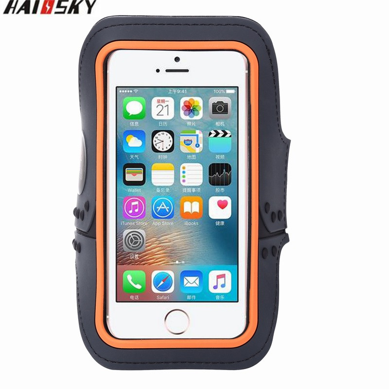 Haissky Universal Waterproof Gym Running Sport Touch Screen Cover Pouch Case For iPhone 4 / 4S / 3G / 3GS Phone Arm Band Case(China (Mainland))