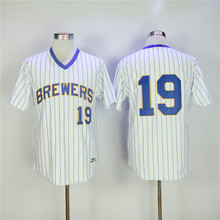 MLB Men's Milwaukee Brewers Eric Thames Orlando Arcia Jonathan Villar Robin Yount Ryan Braun Authentic Collection Jerseys(China)