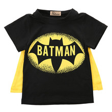 2016 Hot Sell Kids T-Shirts Baby Boys T Shirt Superman Batman T Shirt Kids Short Sleeves Children T-Shirt Nova Boys Clothes