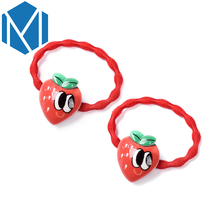 M MISM 1 Pair Sweet Girl's Elastic Hair Bands Gum Kids Candy Color Ponytail Holder Children's Headdress Scrunchy Tiara Gift(China)