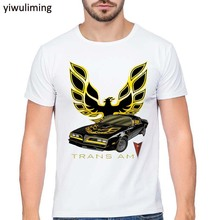 Summer New Men T-Shirt Trans Am Automobile Car white T Shirt asian S-XXXL Size Mens Shirts Short Sleeve Trend Clothing