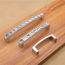 Hole Pitch 64Mm/96Mm/128Mm Modern Crystal Glass Handle Drawer Handle Knob Furniture Pulls Cabinet Handle V5521