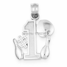 Personalized Customized Number One Bowling Player Bowling Ball & Pins Pendants Bowling Ball Pendants