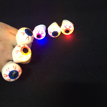 2017 Led Clothes 10pcs Glow Eyes Ring Toy Cartoon Eyesball Led Finger With Plastic Safety Supplies Halloween Party Decoration
