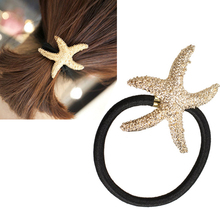 New Arrival Fashion Starfish Hair Accessories Gold Plated Sea Star Hair Bands Korean Jewelry FS99(China)
