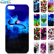 WeeYRN Bulk 10pcs/lot Cute Cartoon Butterfly Case sFor iPhone 5 5S SE 3D Silicone Cover Soft TPU Rubber Coque for iPhone 5S(China)