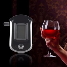 Alcohol Tester Breath Tester Professional Alcohol Breath Analyzer Tester Mini Police Digital LCD Screen Breath Alkohol Tester(China)