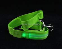 Wholesale! Free Shipping Pet LED Flashing Leash Rope Belt Dog Harness Safety Lead Light Cat collar,7pcs/lot