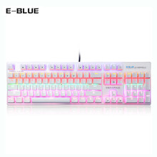 E - BLUE K753 Colorful light  Gaming  keyboard  11 - mode  Blue Switch Mechanical Keyboard