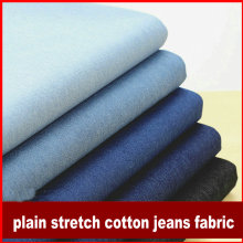 6color Plain Water Washing Denim fabric stretch jeans fabric middle thickness