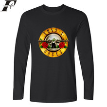 LUCKYFRIDAYF Guns N Roses Long Sleeve T Shirt Men Street Rock Band T-shirts with Men TShirt Brand Famous in Punk Tee Shirt Long(China)
