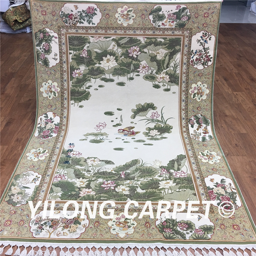 Yilong Oriental Wool Carpet Traditional The beauty of Hangzhou Handmade Art Collection Carpet (CH002)(China (Mainland))