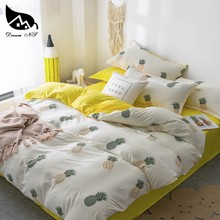 Dream NS Fruit Pineapple Washed Cotton Super Soft Bedding Set For Nordic Simple Cover Pillowcase Bedroom Quilt cover set(China)