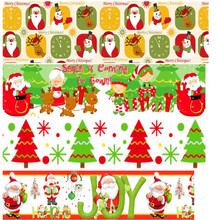 pick color size 16 25 38 50 75 mm width Christmas Day Xmas Printed polyester Grosgrain Ribbon or Satin Ribbon C03