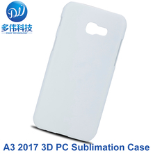 News DIY 3D Sublimation Printed PC Plastic Hard Blank Case For Samsung Galaxy A3 (2017) A320F Cover Mobile Phone Bag Capa 100PCS