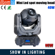 Newest Design 40W DJ Disco Party Wedding Stage Gobo Light Projector Mini LED Spot Beam Wash Moving Head