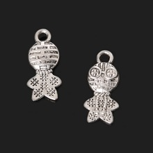 Hot 8*17mm 11pcs Zinc Alloy Frog Prince Charms Antique Silver Plated Charms Pendants Vintage Jewelry Findings Accessories