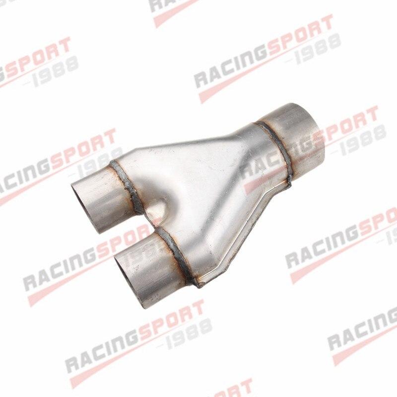 "Universal Custom Exhaust Y-Pipe 3/"" Dual 3/"" Single Aluminized Steel US"